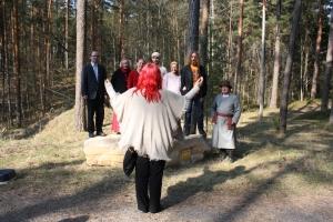 Kivi päält võeti üles ka Haanja mehe laul. Pildi autor Kaile Kabun.